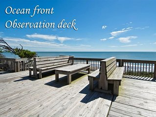 New VRBO! Oceanfront 3 Bedroom Beautiful Beach Condo. Family Setting on NC S OBX