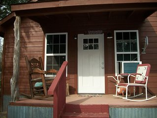 Most visited historical town in Texas..Cabin in quiet seclusion.