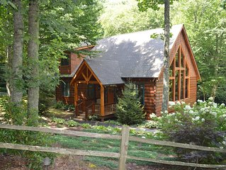 Western North Carolina Custom Mountain Log Cabin