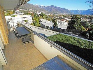 Hubsche, praktische 3,5-Zimmer Wohnung mit Seesicht fur 4 Personen in Ascona, am