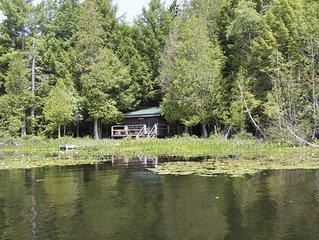*****Authentic Adirondack Waterfront Cabin, Pet Friendly 2 bedroom 1 bath*****