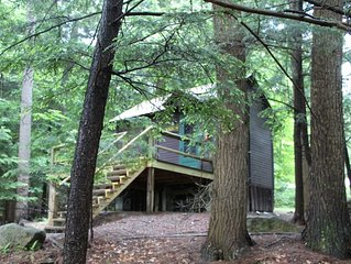 'Like a treehouse!' Adirondack Pet Friendly Cabin Suitable For 2  | Lake Access