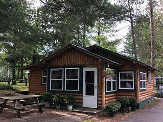 Rustic and charming log cabin on Otsego Lake!Golf, shop, ski! Gaylord, MI