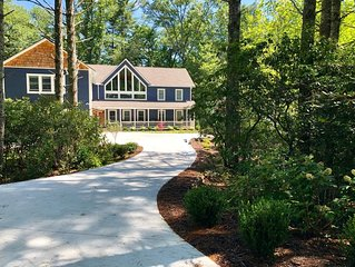 Beautiful new large family home inside gates of Country Club of Sapphire Valley.