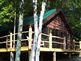 Vintage, Retro Adirondack Cabin - waterfront, peaceful - open spring/summer/fall