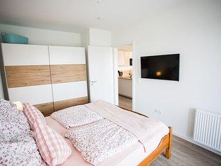 Moderne Wohnung mit Blick auf den Deich, in Wremen