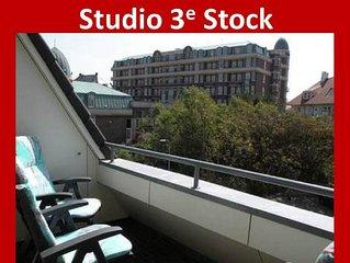 Studio im Zentrum 200 Meter von Strand Dritten Stock