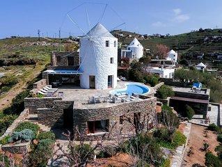 Ferienhaus in perfekter Lage direkt am Meer, Pool, Wifi | Koundouros, Kea