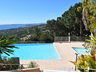 Appartement Les Lssambres - Infinity Pool, Traumhafter Meerblick, Tennis