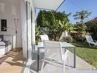 Modernes Gartenapartment, absolute Ruhelage, Strand fussläufig CC6