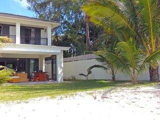 Magnifique Villa de 4 chambres sur la plus belle plage de l'Ile,lagon turquoise.