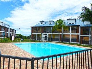 Saint-denis, La Bretagne, appart La Roserais, terrasse, piscine commune, résiden