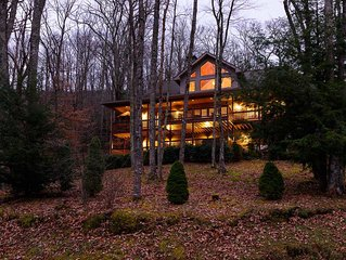 Expansive 4BR Mountain Home with Views, Suites, Hot Tub, Firepit, Near Sugar Mtn