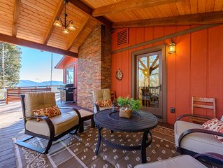 4BR Mountain Home with Long Range Views, Hot Tub, Game Room, Playhouse, and Outd