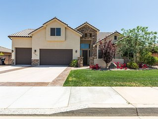 5 Br with private pool/ot tub and beautiful views - near Sand Hollow