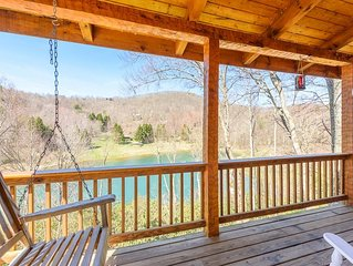 Log Cabin located in The Lakes, Mtn and Lake Views, Hot Tub, Game Tables, King S