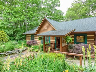 3BR, 2BA Cabin Near Blowing Rock, NC, Hot Tub, Fire Pit, Close To Appalachian Sk