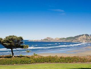 Experience luxury in this groundfloor oceanfront condo in Newport!