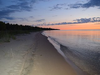 Lake Huron Beachfront Cottage -  Fall 3 Day weekends now available Sep-Oct
