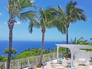 Vue imprenable sur l'océan avec piscine, Petite ile, Plage de Grande-Anse, Appar