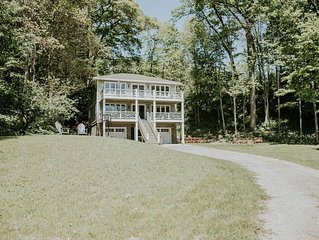 Private Setting with Views of  White Lake/Channel,  Easy walk to Lake Michigan!