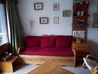 Superbe appartement pour 6 à La Daille, au pied des pistes, avec vue sur Val