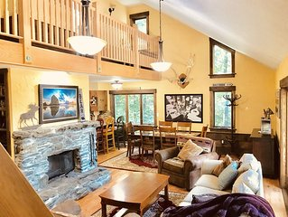 Newly Renovated - Secluded 4 Bdrm - 3 Bath Ski House Right off Access Rd Hot-Tub