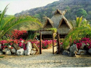 Great Beachfront Palapa in Troncones -- Sleeps 6/8