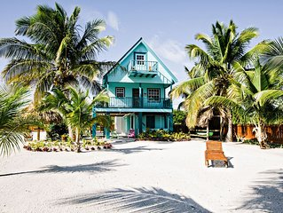 BEST VALUE, CUTEST ISLAND HOME! 3br/ 2ba Belize Beachfront Home