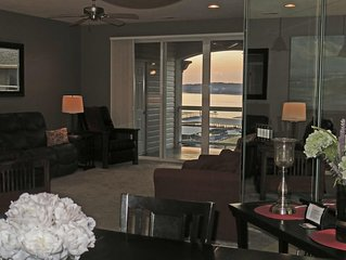 Waterfront Exec Condo, Top Floor Views, Walk-in Level-No Stairs from Parking Lot