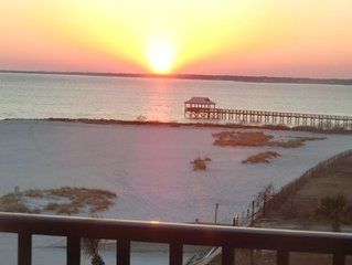 Pass Christian Henderson Point 100% On-Beach Condo--No Fees by Owner