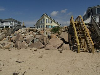 Ocean Front Cottage with Private Beach on Watch Hill end of Westerly