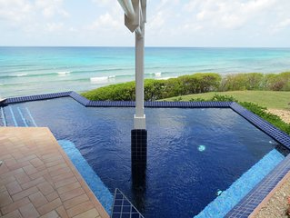 Oceanfront 4bed/5 bath w/ Private Pool Overlooking Caribbean Sea, walk to beach!
