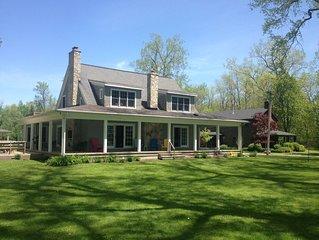 Beautiful Lake Erie Property, 6 bdrm, 4 Bath, private beach, wrap around porch.