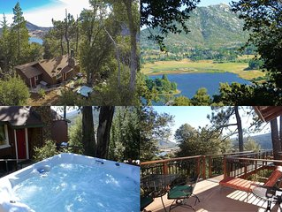 *** LUXURIOUS TREE-HOUSE ***  PANORAMIC LAKE VIEWS, CALDERA SPA + HOME THEATER