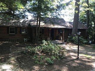 Lakefront Log Cabin!