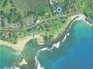 A/C Oceanfront view of Poipu beach. 15 Point Cleaning Pledge -