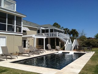 Sullivan's Island Oceanfront Home with Pool