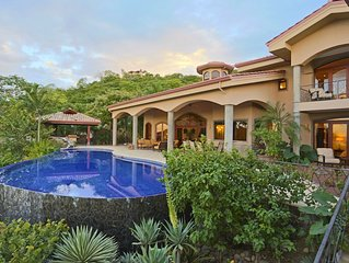 Luxury 7 Bdr Ocean View Villa-Magnificent Pavilion, Pool, Spa, Bar, & Greenhouse