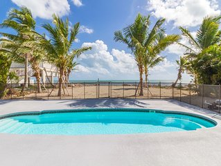 Your Key To The Beach, Grassy Key Ocean Front with Beach Family Friendly Home