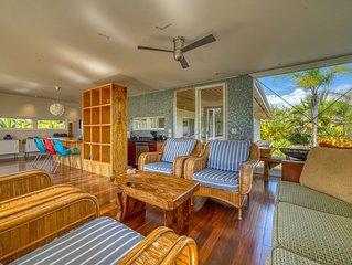 Modernist architectural gem w/ custom interior & bay views - steps to beach!