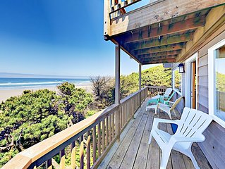 Elite Ocean Views at Windside Cottage! 2BR Beachfront - 10 Min to  Newport