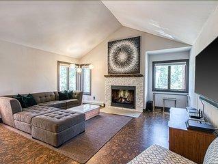 New listing! Mountain condo w/ fireplace, shared hot tub & sauna- close to beach