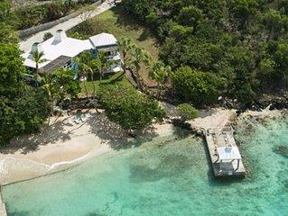 Most Ideal BEACHFRONT Location!! Secret Harbour Villa w/Private Dock!