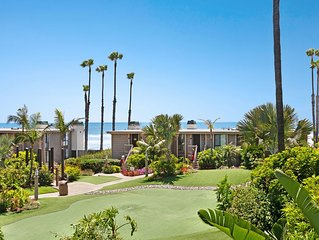 Ocean view condo w/ balcony & shared pool/hot tub/gym - steps to beach!