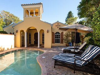 Courtyard style Captiva Villa with pool, near beach