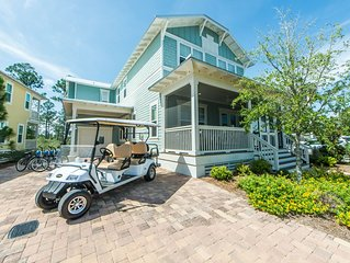 6 Seater Golf Cart! Very Close to Seaside, 2,500+ SQ FT ~Your Sandtuary at Natur