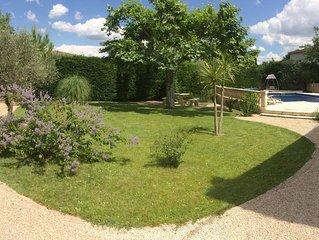 Belle villa provençale avec grand jardin & piscine