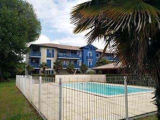Appartement 4 personnes Résidence calme et sécurisée piscine  rez de chaussée