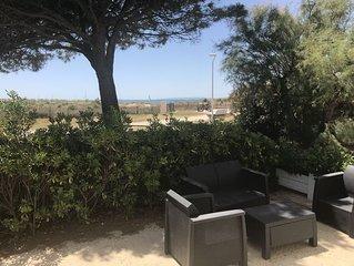 Appartement 8-10 personnes moderne vue mer à 50m de la plage